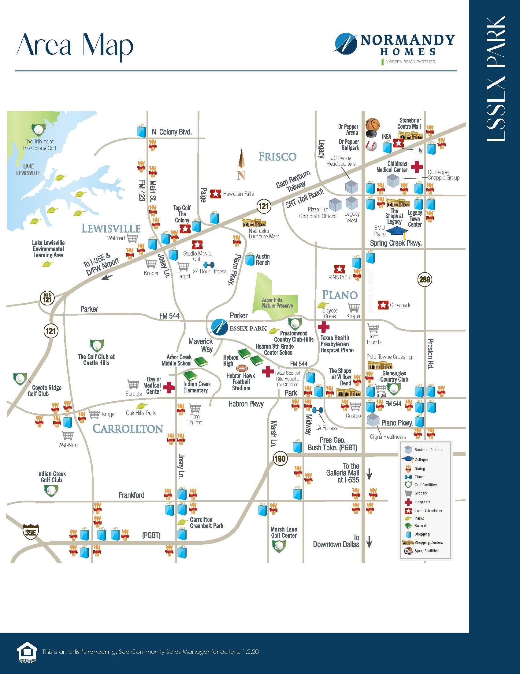 Essex Park Vicinity Map