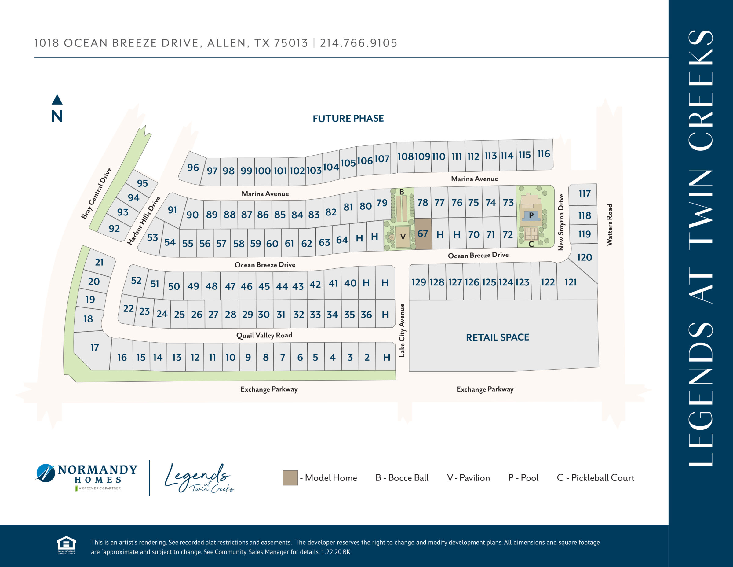 Legends at Twin Creeks Site Map