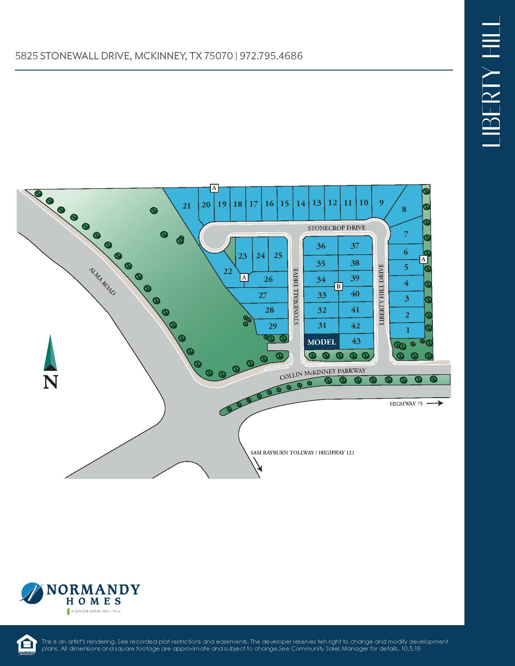 Liberty Hill Site Map