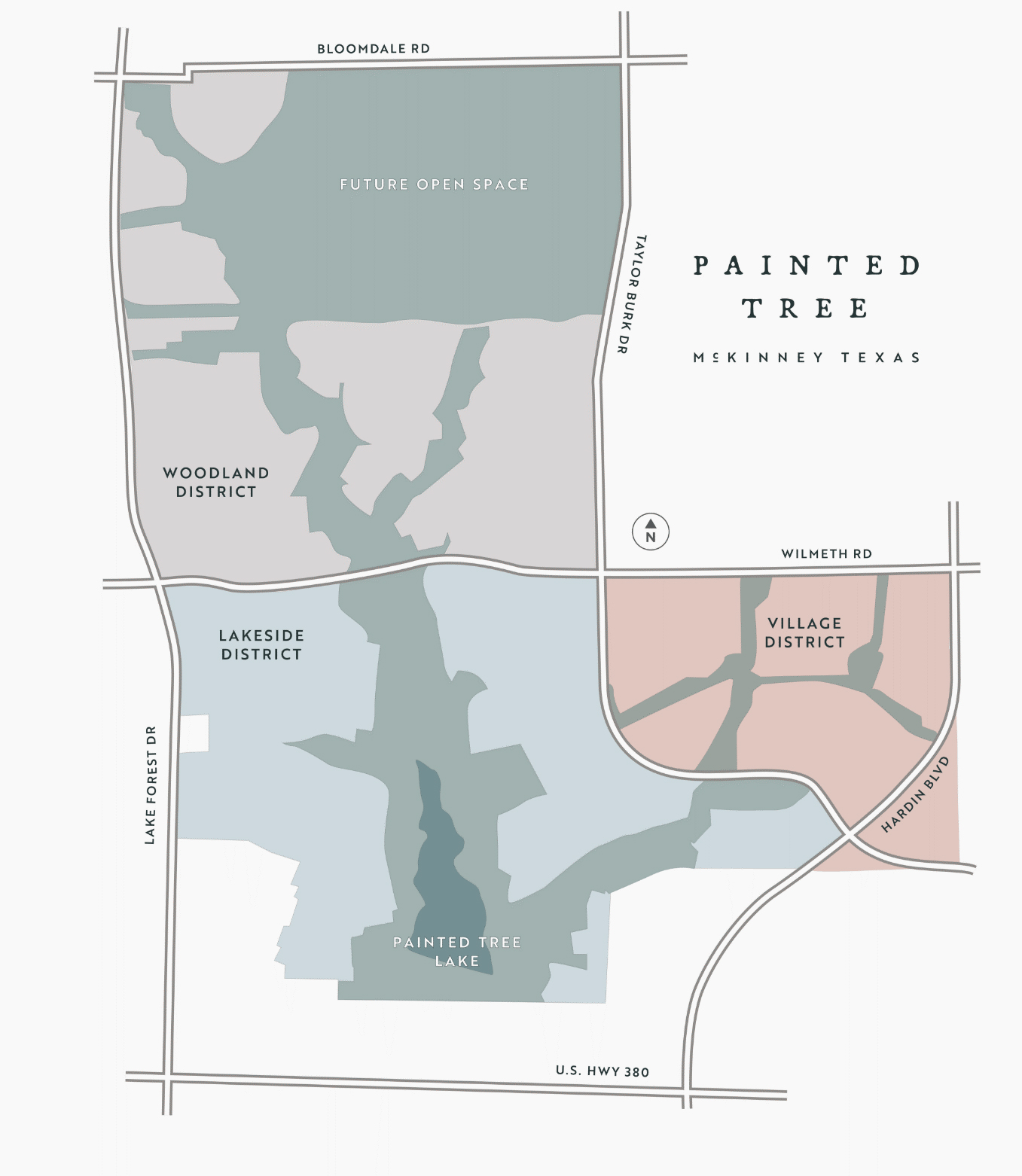 Painted Tree Site Map